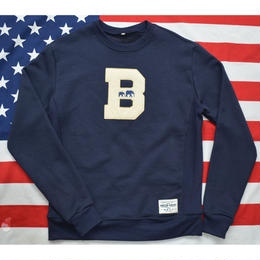 """THE BROOKLYN CIRCUS"" CREW NECK SWEAT (NAVY)"