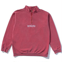 """BROTHERHOOD"" ICONIC QUARTER ZIP (BLOOD ORANGE)"