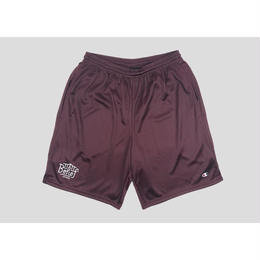 """BELIEF"" TRIBORO CHAMPION™ MESH SHORTS (BURGUNDY)"