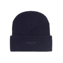 """ONLY"" Lodge Waffle Knit Beanie (Dark Navy)"