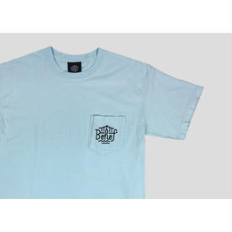 """BELIEF"" TRIBORO POCKET TEE (CHAMBRAY)"