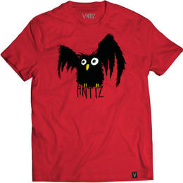 Antiz Wear T-shirt T-shirt Owl – Cherry red