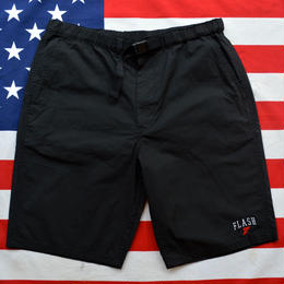 """""""WING FOOT"""" STRETCH EASY SHORTS (BLACK)"""