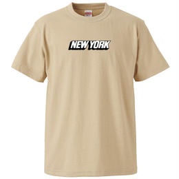NEW YORK S/S TEE (LIGHT BEIGE)