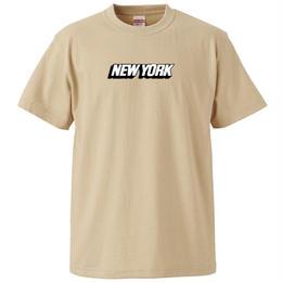 NEW YORK S/S TEE (LIGHT BEIGE)