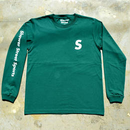 """SSS"" SHOWER STREET SPORTS ARM PRINT L/S TEE (GREEN)"