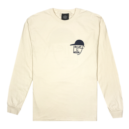 """BELIEF"" TYPEFACE L/S TEE (IVORY)"
