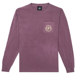"""BELIEF"" ATLANTIC L/S POCKET TEE (BERRY)"