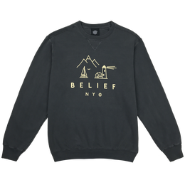 """BELIEF"" COUNTRY CREWNECK (COAL)"