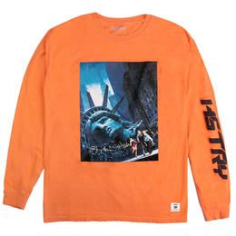 """HSTRY"" ESCAPE L/S TEE (ORANGE)"