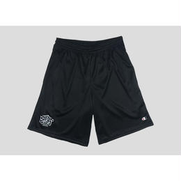 """BELIEF"" TRIBORO CHAMPION™ MESH SHORTS (BLACK)"