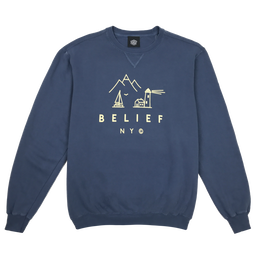 """BELIEF"" COUNTRY CREWNECK (DENIM)"
