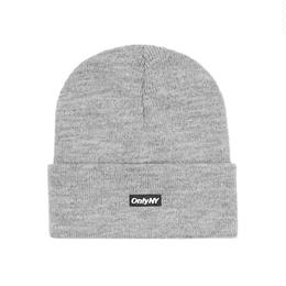 """ONLY NY"" Block Logo Beanie (Heather Grey)"