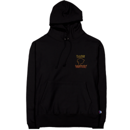 """RARE PANTHER""  FLAMES LOGO REVERSE WEAVE CHAMPION HOODIE (BLACK)"