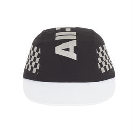 """ICNY"" CHECKER REFLECTIVE  3 PANEL CAP (BLACK)"