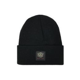 """BELIEF"" TRIBORO BEANIE (BLACK)"