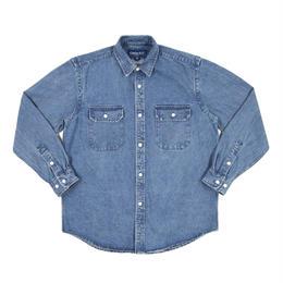 """ONLY NY"" Washed Cotton Work Shirt (Washed Denim)"