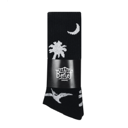 """BELIEF"" PREHISTORIC SOCK (BLACK)"