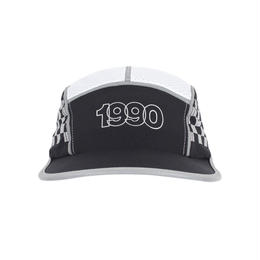 """ICNY"" CHECKER REFLECTIVE 5 PANEL CAP (BLACK)"