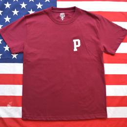"""PRESTRACE INK"" S/S TEE (WINERED)"