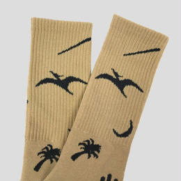"""BELIEF"" PREHISTORIC SOCK (CREAM)"