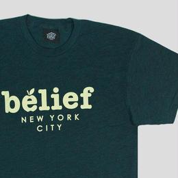 """""""BELIEF"""" MARKET TEE (BLACK AQUA)"""