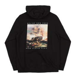 """BELIEF"" 1812© ZIP HOODY (BLACK)"