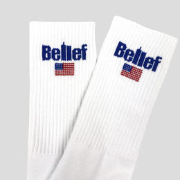 """BELIEF"" WORLD TRADE SOCK (WHITE)"