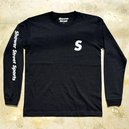 """SSS"" SHOWER STREET SPORTS ARM PRINT L/S TEE (BLACK)"
