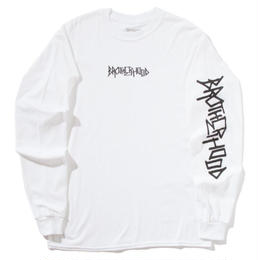 """BROTHER HOOD"" ICONIC - L/S TEE (WHITE)"