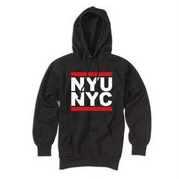 """NYU"" RUN DMC 08z HOODED SWEATSHIRT (BLACK)"
