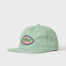 """STUSSY"" GREEN LOGO BADGE SNAPBACK HAT (GREEN)"