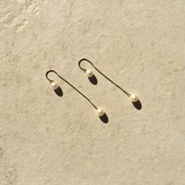 Two pearl pierced