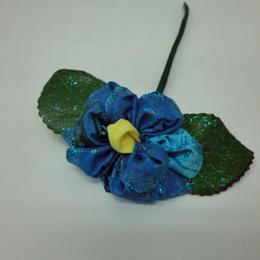 お花のかんざし ブルー