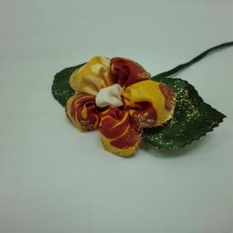 お花のかんざし イエロー