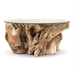 TEAK ROOT ROUND COFFEE TABLE