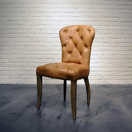 HALO CHESTER CHAIR TINOSSI CAMEL & WEATHERED OAK