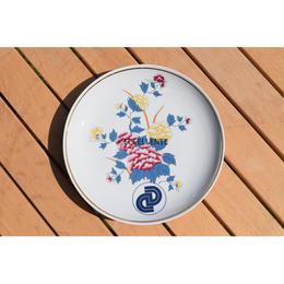 【東欧ヴィンテージ雑貨】【Hollóháza】ホロハーザ  オリエンタルフラワー飾り絵皿