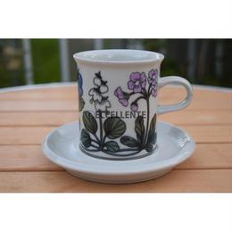 【北欧ヴィンテージ】【ARABIA】フローラ コーヒーカップ&ソーサー