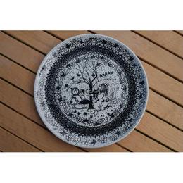 【北欧ヴィンテージ雑貨】【Nymølle】【Bjorn Wiinblad】【アウトレット】四季絵皿 Lサイズ
