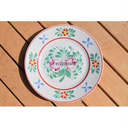 【東欧ヴィンテージ雑貨】【Hollóháza】ホロハーザ  ハンドペイントフォークロア飾り絵皿