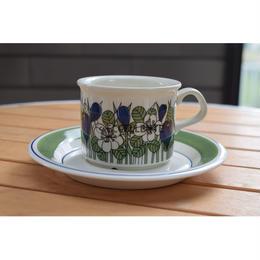 【北欧ヴィンテージ】【ARABIA】クロッカス コーヒーカップ&ソーサー