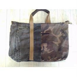 【ABA (Aprile Bags Art)】ダブルフェイスデニムトート