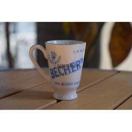 【アウトレット】【東欧レトロ雑貨】【チェコスロバキア】【Karlovy Vary】【Becher's Liqour】ヤン・ベヘール ショットカップ(ブルー)