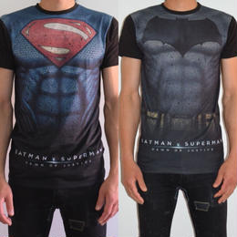 【PRIMARK】【16SS劇場公開記念限定コラボデザイン!】PRIMARK x アメコミヒーローズ バットマンvsスーパーマンTシャツ