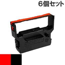 IR-61  ( RB ) レッド&ブラック インクリボン カセット CITIZEN (シチズン) 汎用新品 (6個セットで、1個あたり1000円です。)
