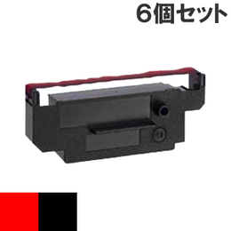 IR-51  ( RB ) レッド&ブラック インクリボン カセット CITIZEN (シチズン) 汎用新品 (6個セットで、1個あたり1000円です。)