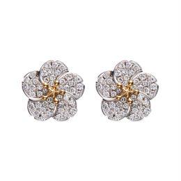 Ume pierced earrings  K18WG