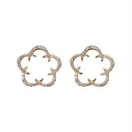 Kikyo Crest pierced earrings K18YG