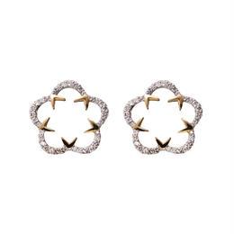 Kikyo Crest pierced earrings MIX